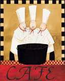 Three Chefs Soup Bistro II Posters by Dan Dipaolo