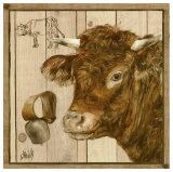 Vache Rousse Print by  Clauva