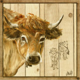 Vache Beige Posters by  Clauva