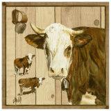 Vache Marron et Blanche Posters by  Clauva