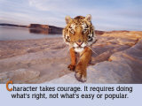 Character Takes Courage Plakaty