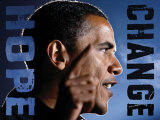 Barack Obama: Hope, Change Posters
