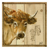 Vache Beige Prints by  Clauva