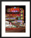 Neon Lights at Night on Nathan Road, Tsim Sha Tsui, Kowloon, Hong Kong, China, Asia Poster von Gavin Hellier