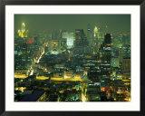 Détail du centre de Bangkok, Thaïlande Affiches par Walter Bibikow