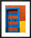 Colourful Door, Venice, Burano, Veneto, Italy Affiches par Roberto Gerometta