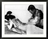 Tatouage sur le dos réalisé par un artiste japonais Affiches