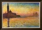 Pôr do Sol em Veneza Pôsteres por Claude Monet