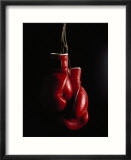 Hanging Boxing Gloves Affiche par Ernie Friedlander