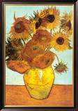 Sunflowers, c.1888 Framed Canvas Print by Vincent van Gogh