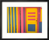 Colorful Doorway, New Providence Island, Bahamas, Caribbean Affiches par Walter Bibikow