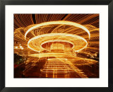 Christmas Merry-Go-Round Spinning on the Place De L'Hotel De Ville, Paris, Ile-De-France, France Prints by Martin Moos