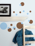 Just Dots - Light Blue &amp; Brown Wall Decal