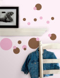 Just Dots - Pink & Brown Wall Decal