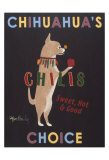 Chihuahua's Choice Chilis Collectable Print by Ken Bailey