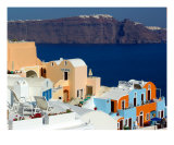 A View From Oia Photographic Print by Constantinos Stathoulis