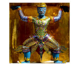 Gilded Chedia at Grand Palace, Bangkok, Thailand Photographic Print by Kim Digiulio