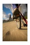 Biking Chicagos Lakefront Impressão fotográfica por Steve Gadomski