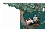 Panda And Child Reproduction proc&#233;d&#233; gicl&#233;e par Nancy Tillman