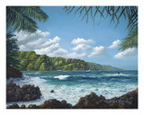 Tranquil Paradise Hana Giclee Print by Kathy Mccartney