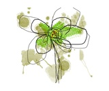 Liquid Green Flower Fotoprint van Jan Weiss