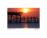 West Pier Sunset Photographic Print by James Lyons