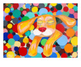 Puppys Dreams Giclee Print by Iris Grover
