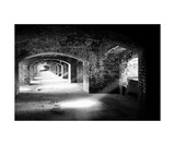 Archways And Light Beams, Fort Jefferson, FL Photographic Print by George Oze