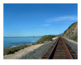 Coastal Train Tracks Photographic Print by Henrik Lehnerer