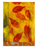 Red Leaves Giclee Print by Elena Ray
