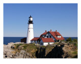 Rocky Coast Lighthouse Photographic Print by Debra Cyr