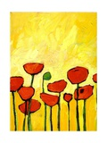 Spring Poppies 2 Arte por Patty Baker