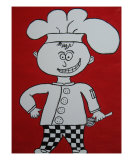 Chef Joey Will Whisk You Away Giclee Print by Brenda Tuttle