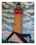 New Jersey Lighthouse Giclee Print by Michael Forzato