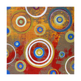 Abstract Orange Fizz Giclee Print by Ricki Mountain