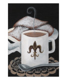 Fleur De Lis And Beignets Giclee Print by Elaine Hodges