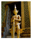 Statue Guarding Emerald Buddha, Bangkok, Thailand Photographic Print by Kim Digiulio