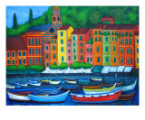 Portofino Colors Giclee Print by Lisa Lorenz