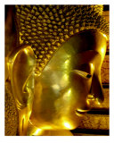 Reclining Buddha Head, Bangkok, Thailand Photographic Print by Kim Digiulio