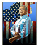 George W. Bush - The Reminder Giclee Print by Ken Hendricksen