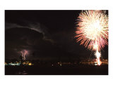 Lightning And Fireworks Photographic Print by Susan Strom