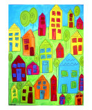 My Town Giclee Print by Jen Kennedy