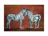 Amor, zebra Pôsteres por Megan Aroon Duncanson