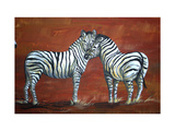 Zebra Love Giclee Print by Megan Aroon Duncanson