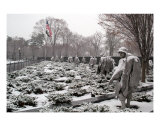 Korean War Memorial Snow Scene Photo Photographic Print by William Luo