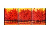 Red Trees Triptych Giclee Print by Patty Baker