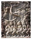 Stone Engraving Angkor Thom, Cambodia Photographic Print by Kim Digiulio