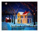 Old Farm House In The Poconos Giclee Print by Michael Forzato