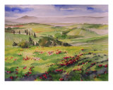 Tuscany Hills Val D Orcia Giclee Print by Alessandro Andreuccetti