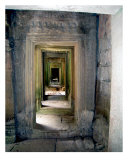 Hallway in Angkor Thom, Cambodia Photographic Print by Kim Digiulio